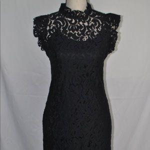 Alexia Admor Ruffle Lace Sheath Dress S